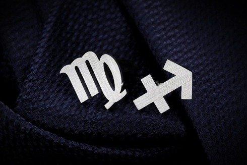 Srebrne Spinki do mankietów znak zodiaku