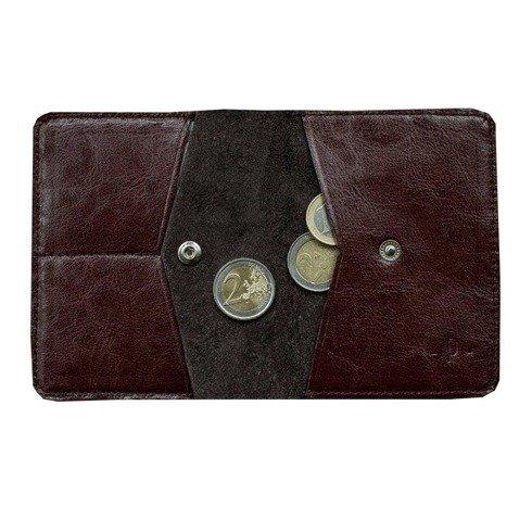 Wiśniowy portfel z bilonówką