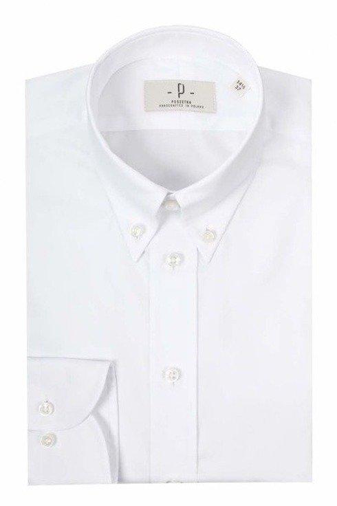 biała koszula oxford button down