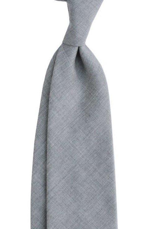 wełniany szary Krawat bez podszewki