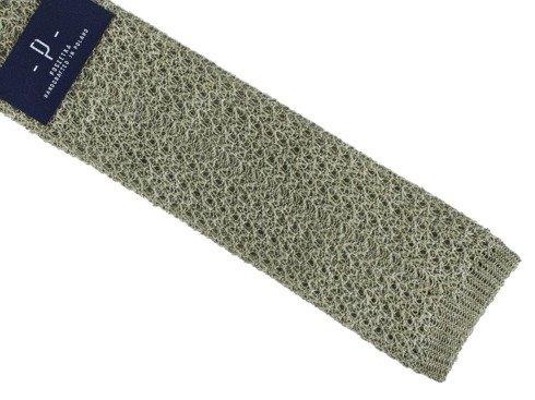 zielony knit lniany