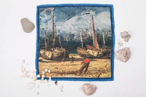 """Obrazy mistrzów """"Kutry rybackie przy brzegu morza"""""""