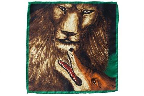 """Poszetka """"Jak lew z lisem"""""""