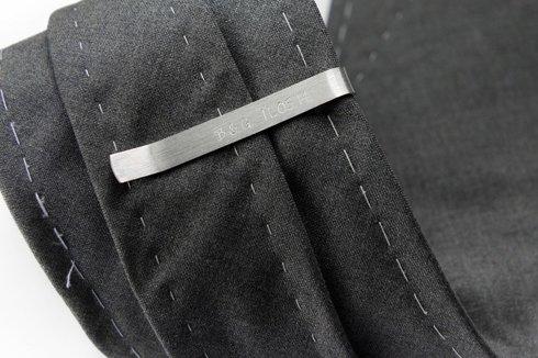 Srebrna Spinka do krawata INICJAŁY