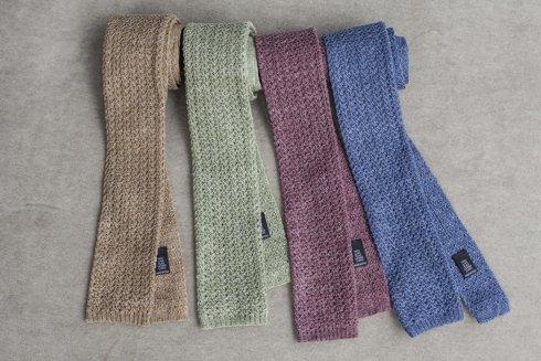 brązowy knit lniany