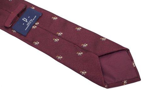 jedwabny burgundowy krawat