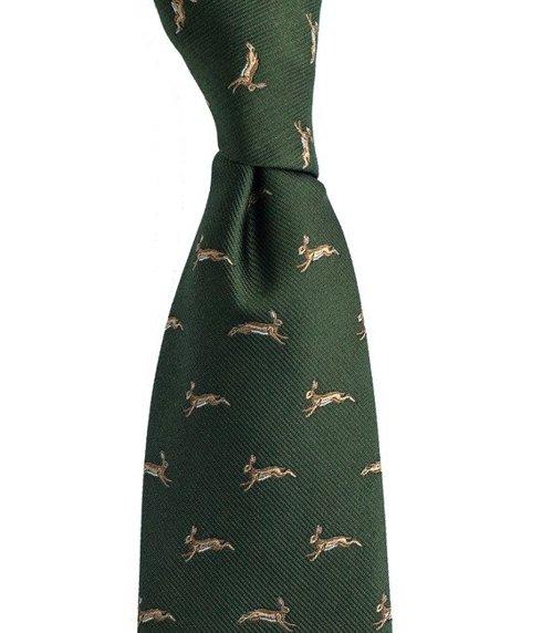 krawat w zające
